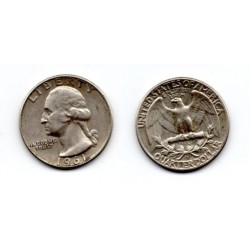 1961 EEUU 1/4 DÓLAR plata, George Washington