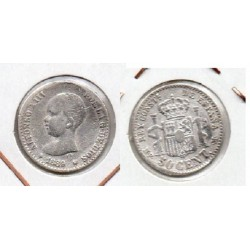 1889 50 ctmos plata Alfonso XIII
