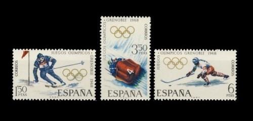 Filatelia Ano 1968 1851 53 X Juegos Olimpicos Invierno Grenoble