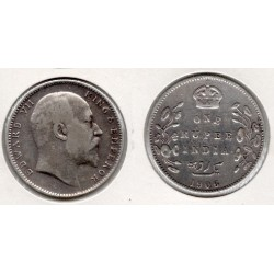 1906 India británica 1 rupee EdWard VII