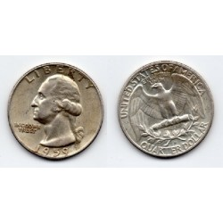 1959 EEUU 1/4 DÓLAR plata, George Washington