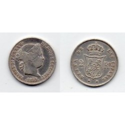 1859 Isabell II - 2 reales 1859 ceca Madrid