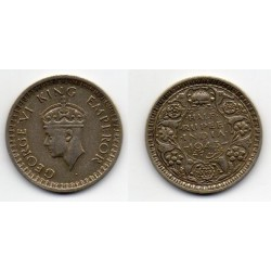 1943 India británica 1/2 rupee George VI