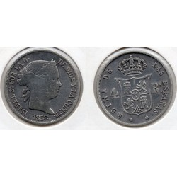 1858 Isabell II - 4 reales 1858 Madrid
