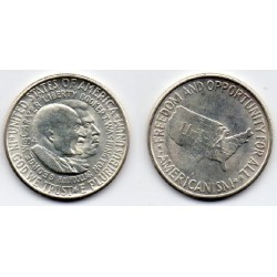 1954S EEUU 1/2 DÓLAR de plata, Washington Carver