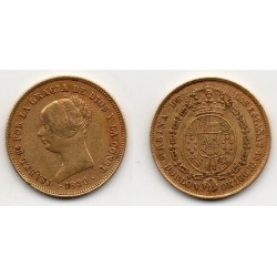1850 Isabell II - Doblon/100 reales Madrid CL