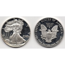 1988 EEUU 1 Dollar de Plata - 1 onza Liberty - Proof