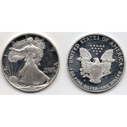 1990 EEUU 1 Dollar de Plata - 1 onza Liberty - Proof