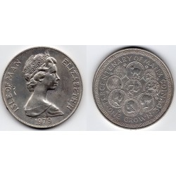 1979 ISLE OF MAN -ELIZABETH II - 1 Crown plata