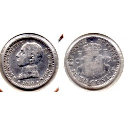 1910 50 ctmos plata Alfonso XIII