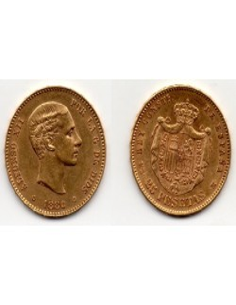 1880 25 Pesetas Oro Alfonso XII