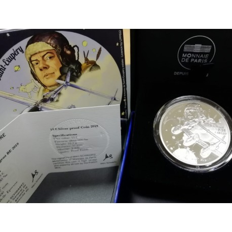 2019 Francia - Moneda 10 euros Proof P-38 Historia Aviacion