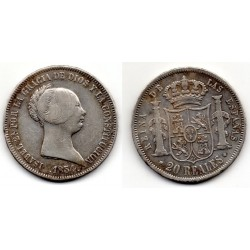 1854 ISABELL II 20 REALES Madrid