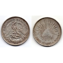 1899 MEXICO - 1 Peso plata Mo Am
