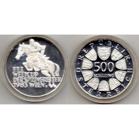 1983 AUSTRIA - 500 SCHILLINGS World Cup Horse Jumping Championship