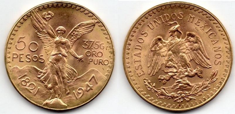 50 pesos de oro mexico